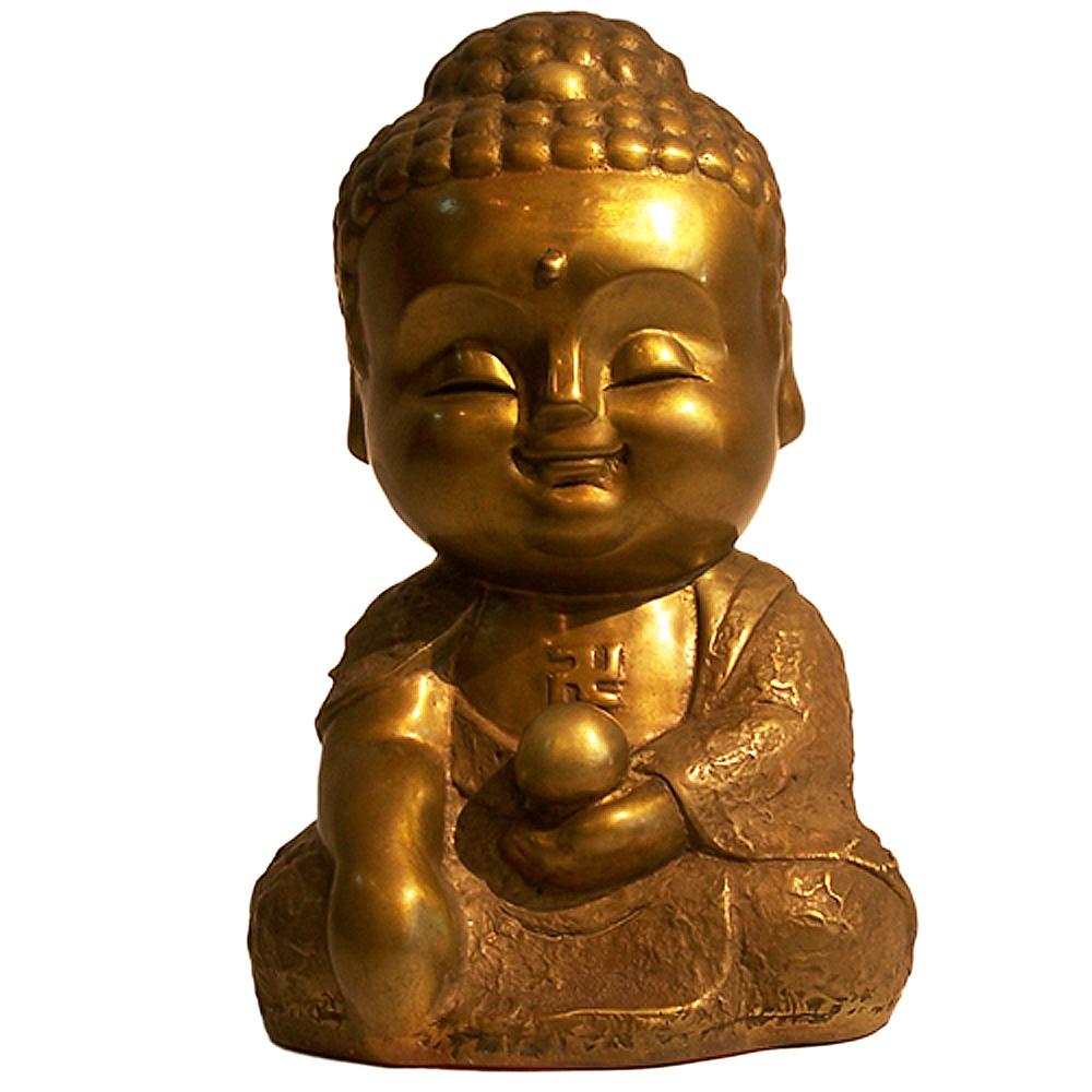 子問老師 限量原作銅雕 Q佛系列-西方三聖/阿彌陀佛