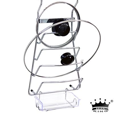 king不鏽鋼四層鍋蓋收納架(附集水盒)