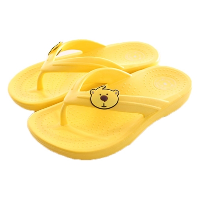 小熊減壓足弓夾腳拖鞋 黃 sk0135 魔法Baby
