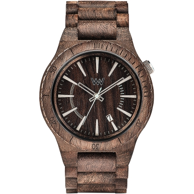 WEWOOD 義大利日期視窗木頭錶 ASSUNT CHOCO ROUGH-玫瑰木/46mm