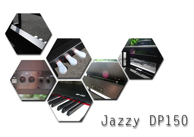 [贈琴椅] JAZZY DP150 電鋼琴88鍵,法國PCM音源+MIDI,非電子琴音色