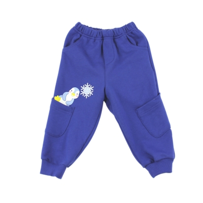 愛的世界 MYBEAR 純棉小企鵝鬆緊帶束口長褲/1~3歲