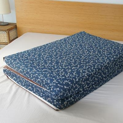 Saint Rose 單人亞藤蓆天然纖維三折式冬夏兩用床墊-宮廷風