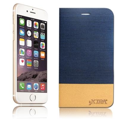 VXTRA iphone 6 /6s 牛仔紋拼接側翻皮套