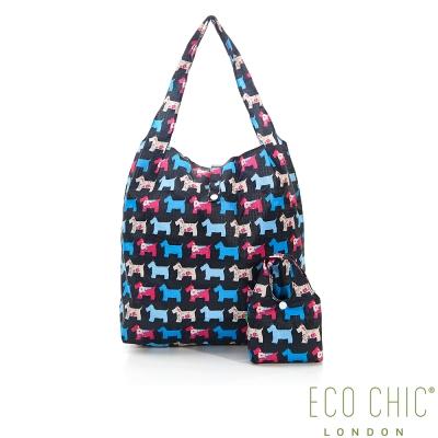 英國ECO CHIC折疊購物袋-雪納黑