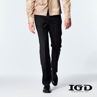 IGD英格麗-撞色出芽拼接西裝褲