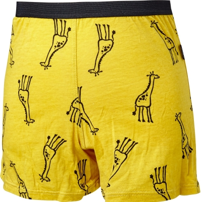 SOLIS 線條長頸鹿系列四角男童褲(鵝黃色)