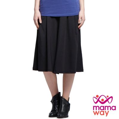 孕婦褲 寬褲 孕期涼感飄逸寬口褲(共二色) Mamaway