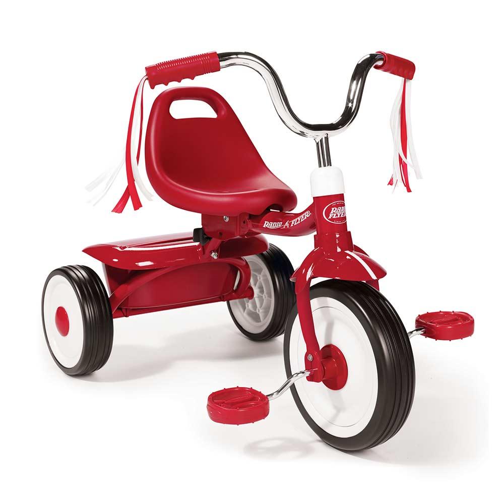 【RadioFlyer】紅騎士折疊三輪車(彎把)#411A型