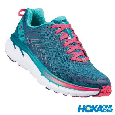 HOKA ONE ONE 跑鞋 Clifton 4 女 超緩震跑鞋 寬楦 藍