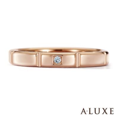 A-LUXE-亞立詩鑽石-18K金情侶結婚戒指-女戒