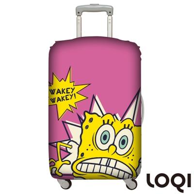 LOQI 行李箱套│海綿寶寶鬧鈴M號 適用22-27吋行李箱保護套