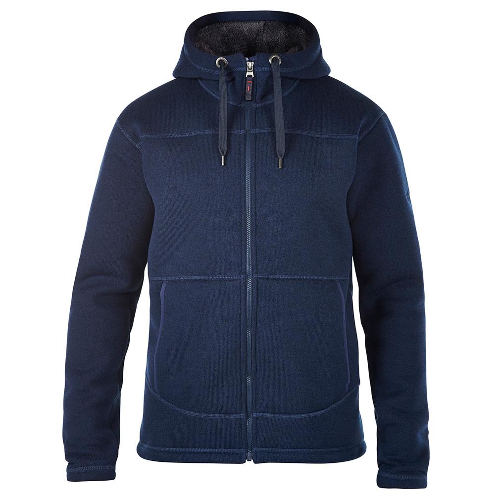 【Berghaus貝豪斯】男款GOSWICKHOODY刷毛保暖連帽外套H22M35藍