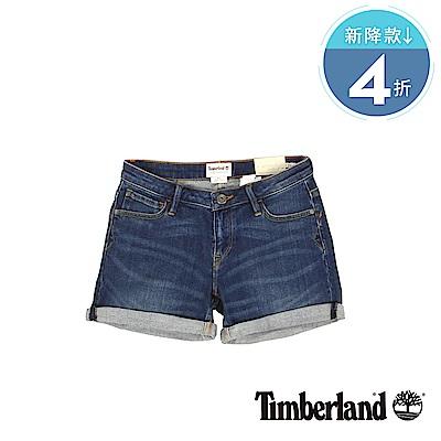 Timberland  女款穿舊感深色Meadow Lake 牛仔短褲