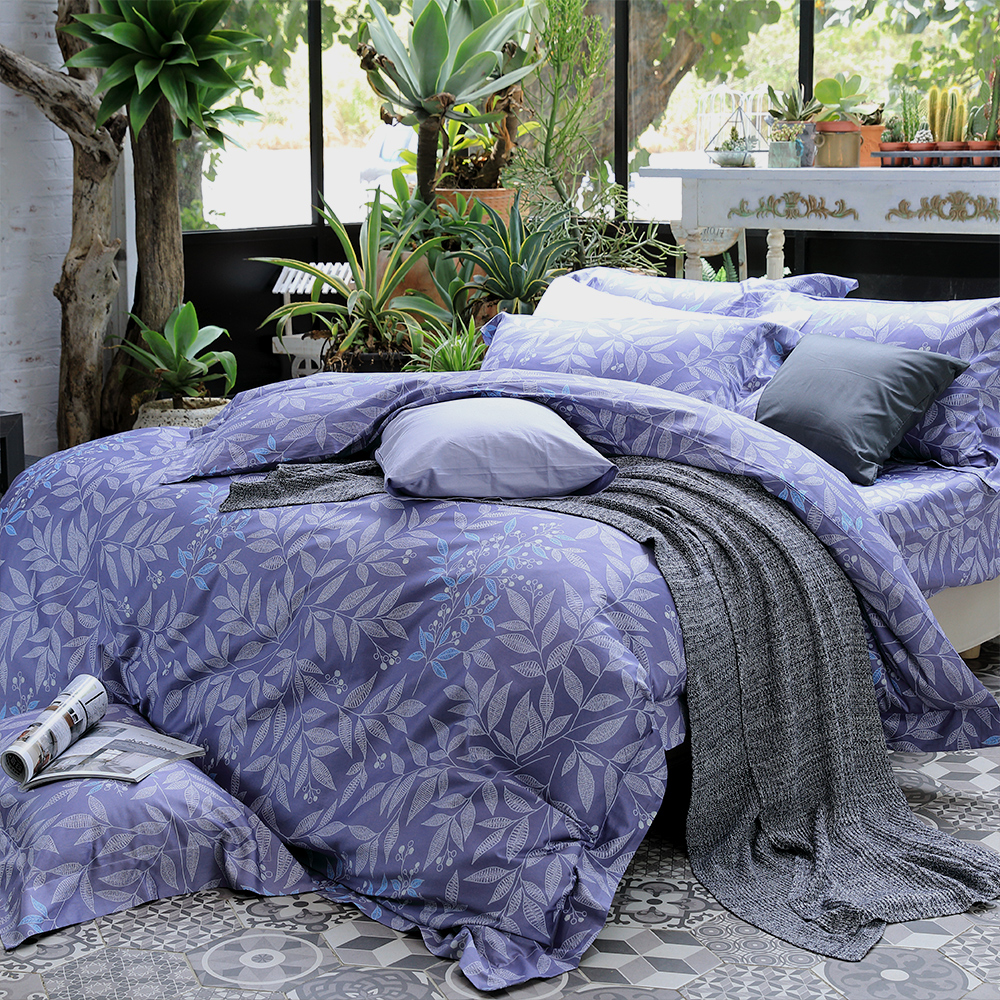 HOYA H Series華爾滋 特大四件式頂級500織匹馬棉被套床包組 贈冬被