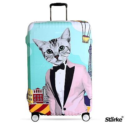 Starke 26-29吋高彈性行李箱套 -紳士貓咪