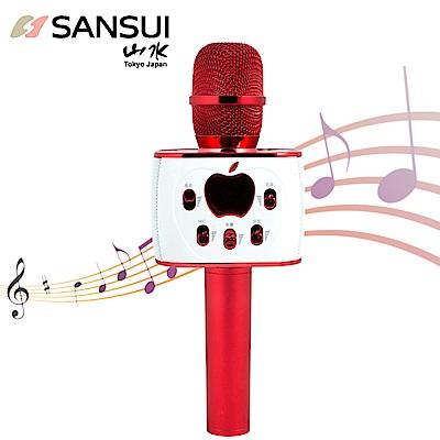 【SANSUI】1對2藍芽K歌神麥SB-K77(紅)