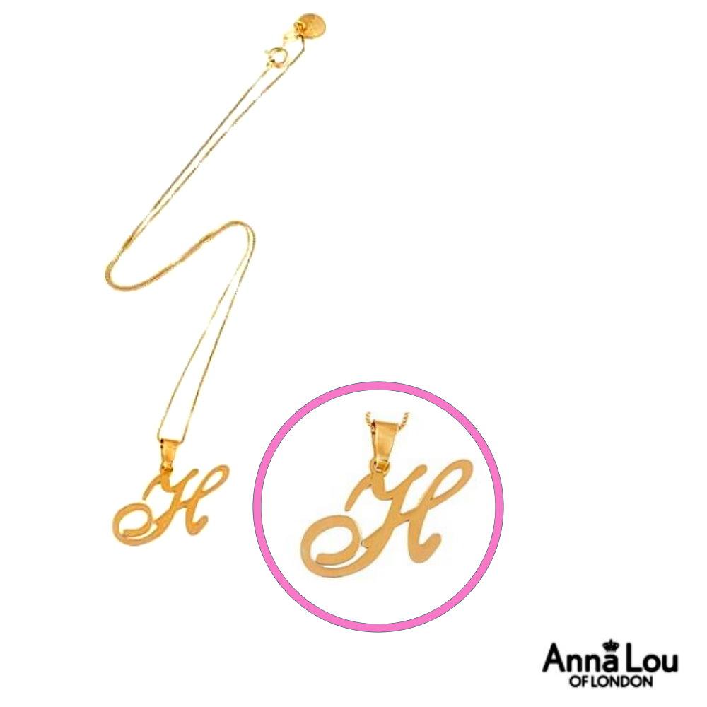 Anna Lou Of London倫敦品牌 A-Z個性字母項鍊-金