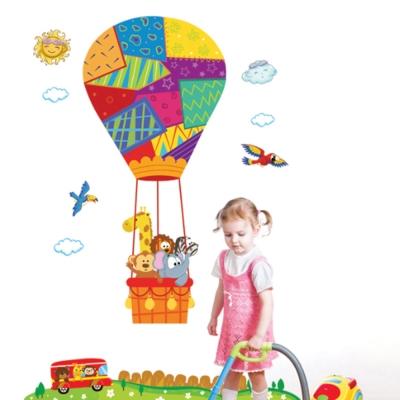 Pond's 無痕壁貼 童趣熱氣球 ABC1051 超大尺寸60x90
