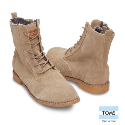TOMS-麂皮高筒女靴-女款-深褐
