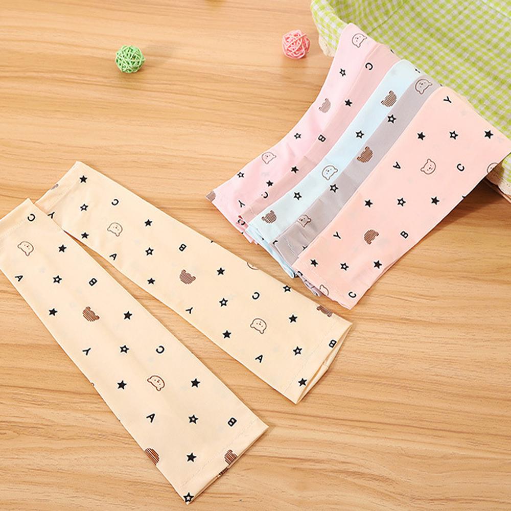 iSFun 印花涼感 兒童透氣防曬袖套襪套超值2雙入
