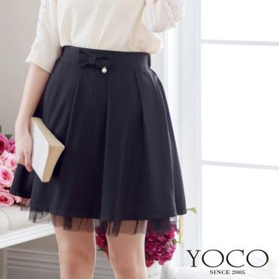 東京著衣-yoco 自訂款打褶紗襬短裙-S.M(共二色)
