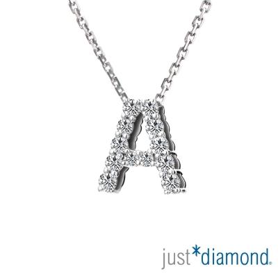 Just Diamond Love Words系列18K金鑽石墜子-A