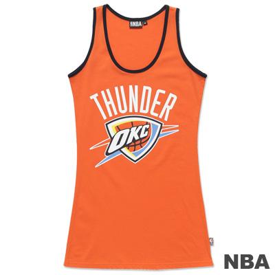 NBA-奧克拉荷馬雷霆隊合身長版背心-桔-女