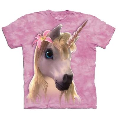 摩達客 美國進口The Mountain可愛派獨角獸純棉短袖T恤