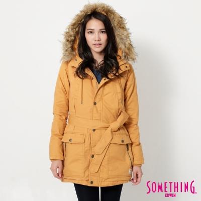 SOMETHING 時尚亮麗防寒外套-女-黃色