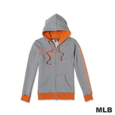 MLB-紐約洋基隊運動連帽印花長袖外套-灰色(女)