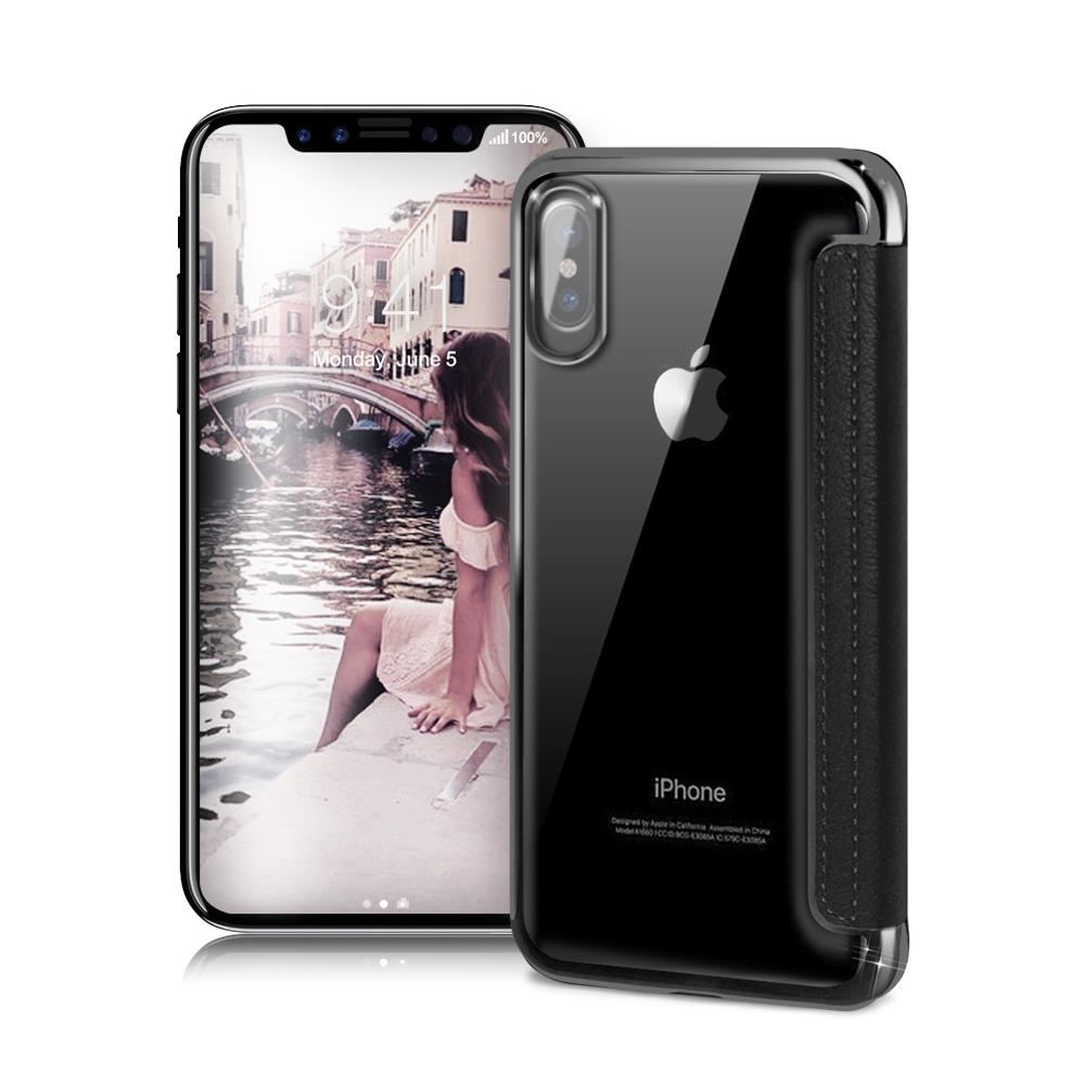 COLORS iPhone X 5.8吋 法式浪漫裸背皮套