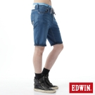 EDWIN 短褲 JERSEYS迦績涼爽工作短褲-男-石洗藍