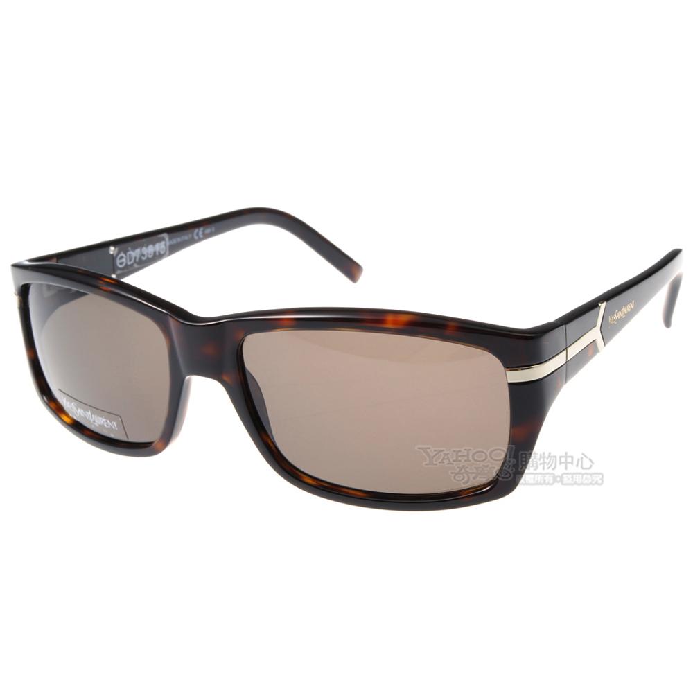 YSL太陽眼鏡 時尚雅痞#琥珀YSL2290S 08670