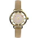 Vivienne Westwood 典雅之星鏤空時尚腕錶-金/33mm