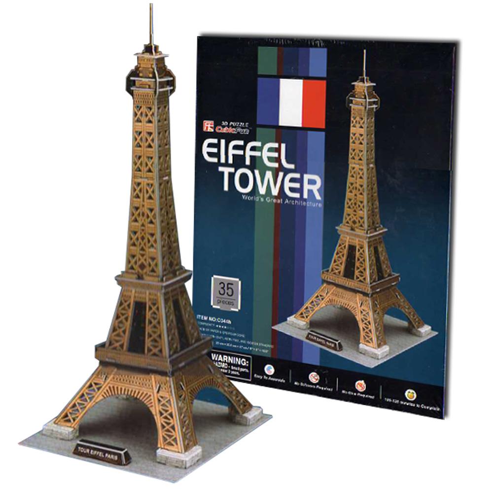 Cubic Fun 智慧3D立體拼圖『巴黎艾菲爾鐵塔』