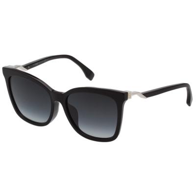 FENDI  方框 修臉款 太陽眼鏡 (黑色)FF0244FS