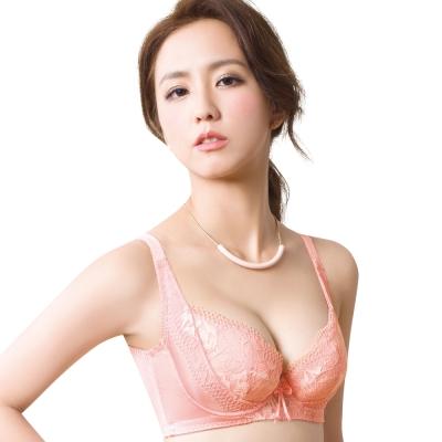 思薇爾 柔挺美學系列D-G罩蕾絲背心式塑身內衣(霓粉橘)