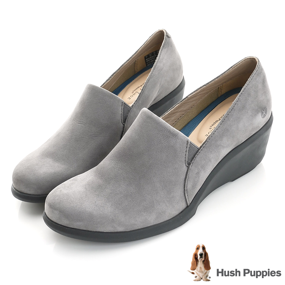 Hush Puppies FRAULEIN 楔型鞋-灰色