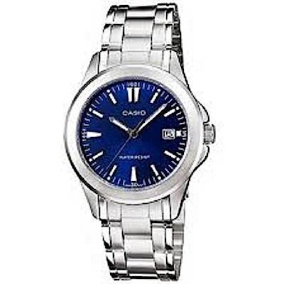 CASIO 時尚成熟型男腕錶(MTP-1215A-2A2)-藍/37mm