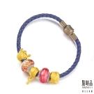 點睛品 Charme Murano Glass「智慧皇后」黃金彩色琉璃串珠手鍊