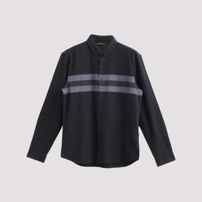 Hang Ten - 男裝 - 法蘭絨紋拼接襯衫 - 灰