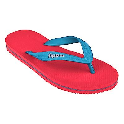 Fipper SLICK 天然橡膠拖鞋 RED-BLUE