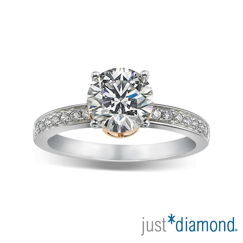 Just Diamond 30分雙色金鑽石戒指-Deep Love