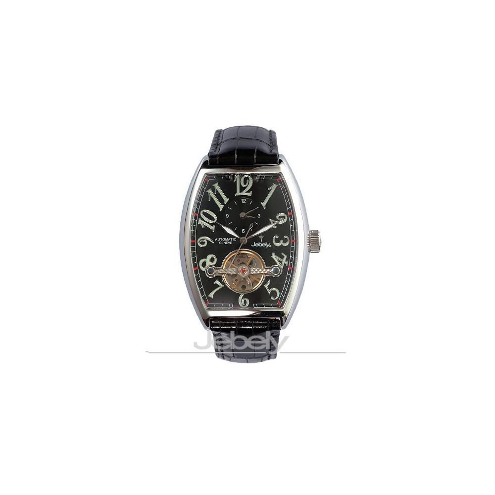 Jebely瑞士機械錶_伯恩相對論系列-黑/43×38mm