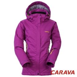 CARAVA 《女款防水透氣禦寒外套 》(深紫紅).