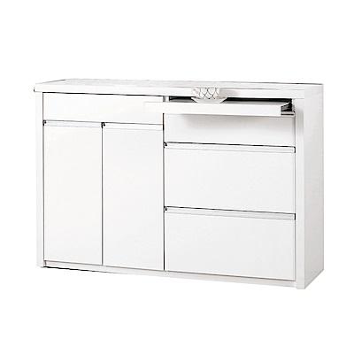 品家居 維多3.9尺二門四抽餐櫃下座-117x40x81.5cm免組