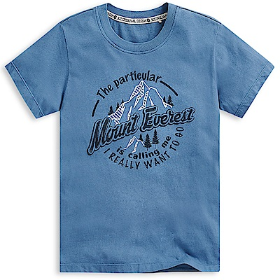 101原創 高強度短袖T恤上衣-灰藍