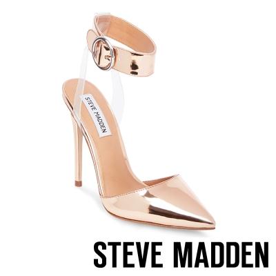 STEVE MADDEN-DIVA 踝帶尖頭高跟鞋-玫瑰金