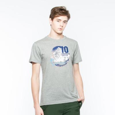 Hang-Ten-男裝-有機棉竹節紗圓領T恤-灰